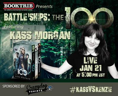 Booktrib Live Chat: KASS MORGAN – AUTHOR OF THE 100 BOOK SERIES #kassvskenzie