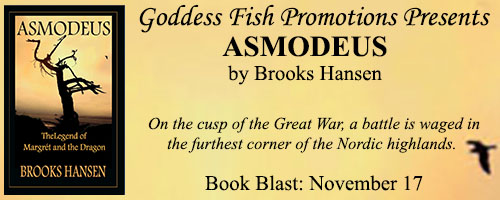 Blog Tour & Giveaway: Asmodeus: The Legend of Margrét and the Dragon  by Brooks Hansen
